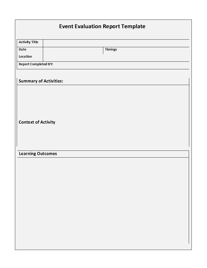 Free Printable Report Templates