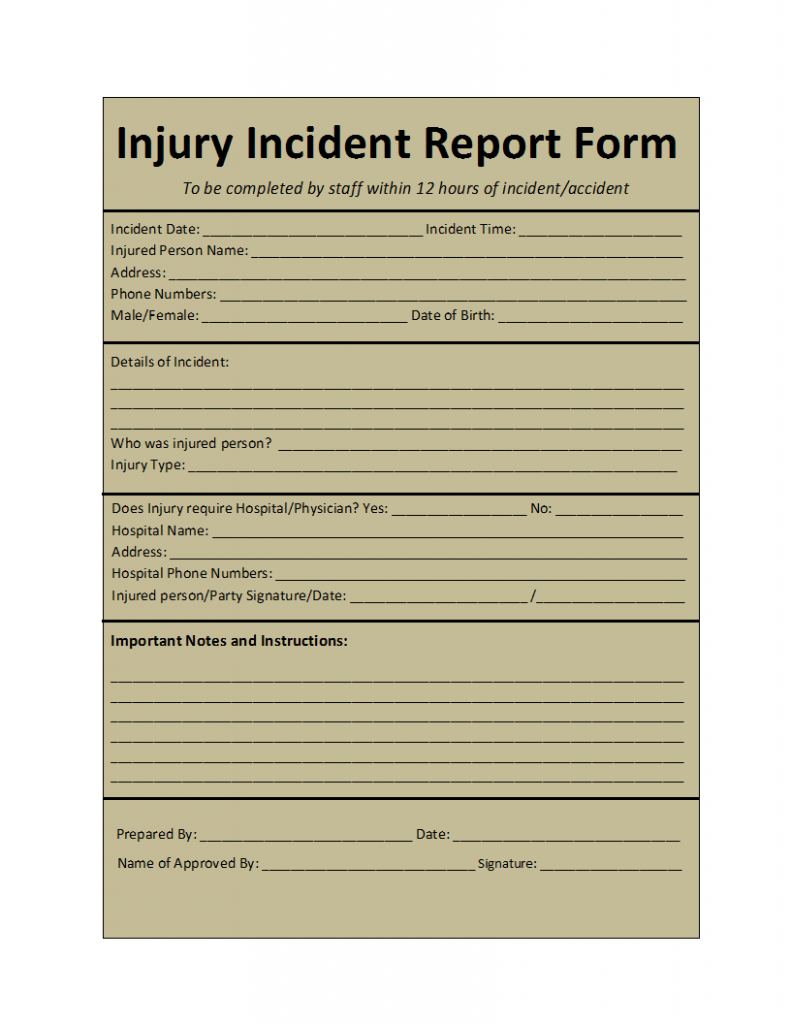 incident report template. Black Bedroom Furniture Sets. Home Design Ideas