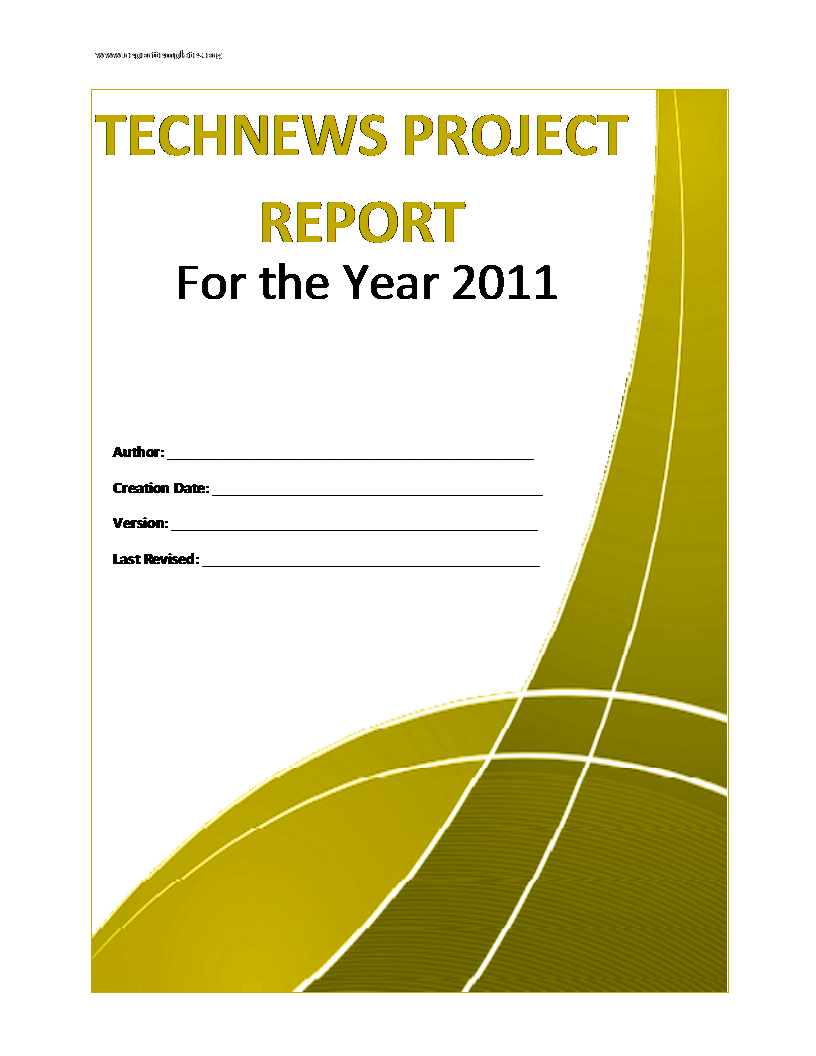 Sample Project Report Template