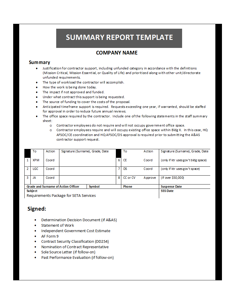 Free Printable Report Templates – Report Template